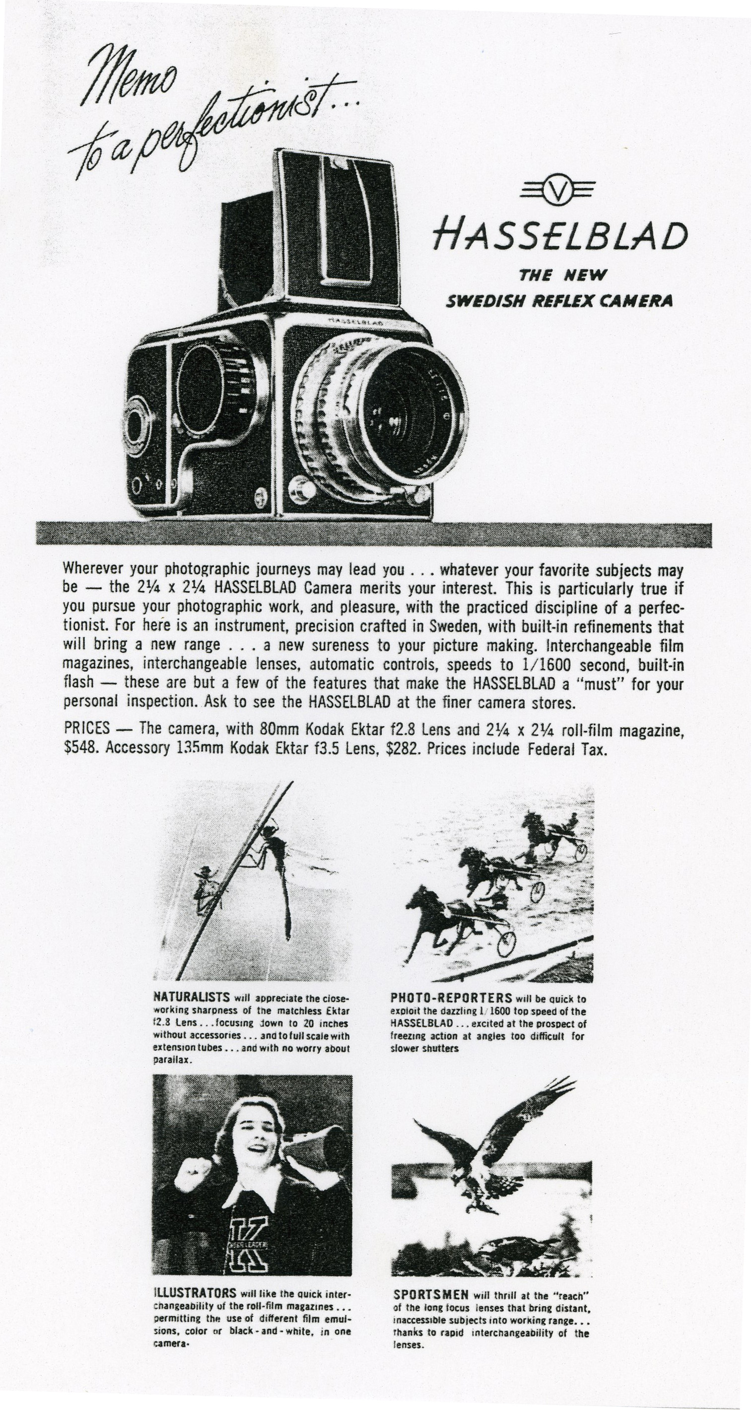 Hasselblad Historical - 1600 F & 1000 F Brochures and manuals